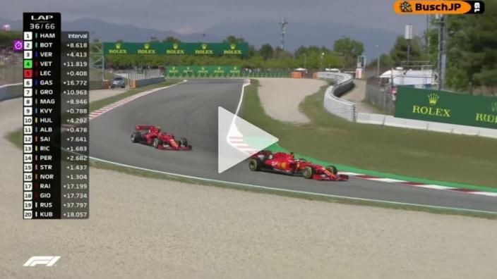 VIDEO: Ferrari return team order favour to Vettel over Leclerc