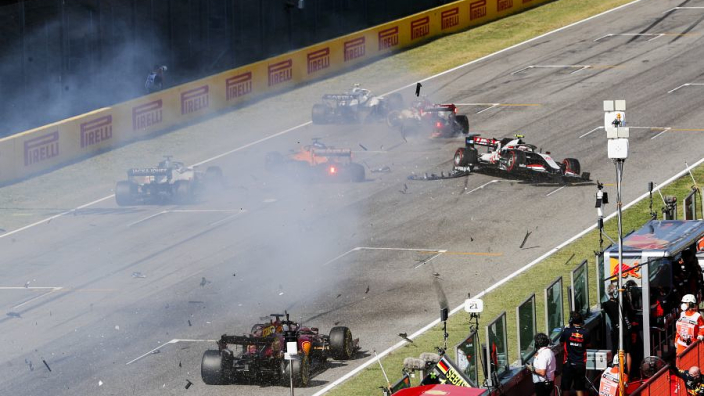 Hamilton one win away from Schumacher record after crash-strewn Tuscan GP