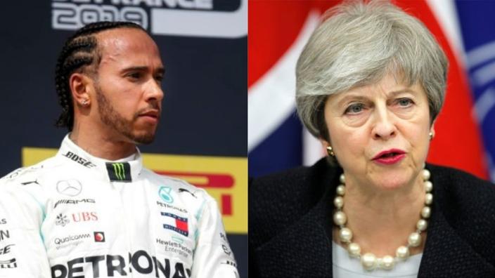 Lewis Hamilton praises Theresa May's 'balls of steel'