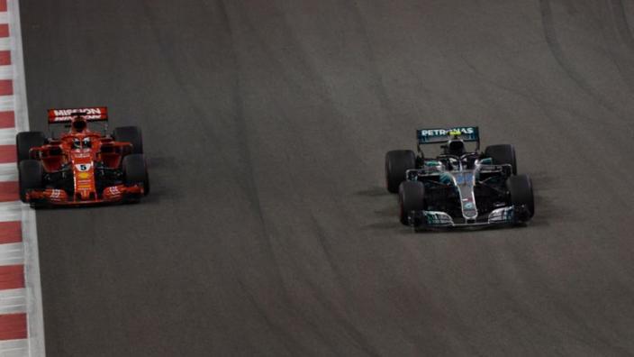 VIDEO: Vettel hunts down Bottas in Abu Dhabi