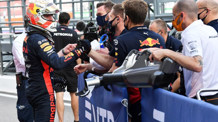 "Red Bull ""have to be happy"" with splitting Mercedes - Verstappen"