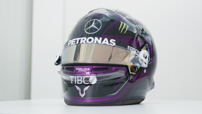 Hamilton unveils stunning new helmet design in support of equality