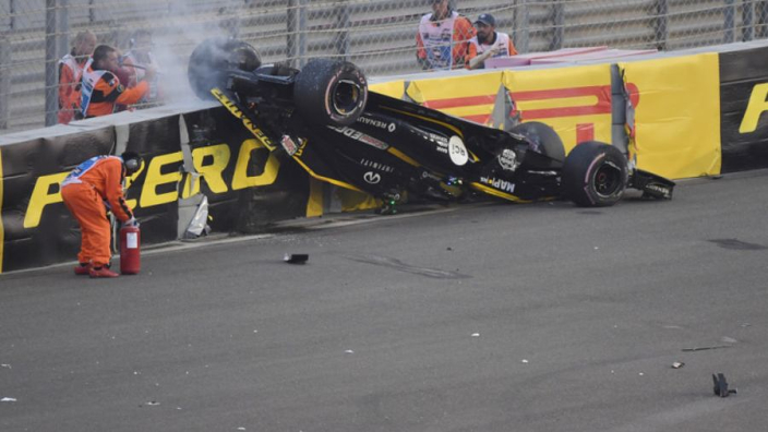 Did Halo delay Hulkenberg's escape after Abu Dhabi crash?
