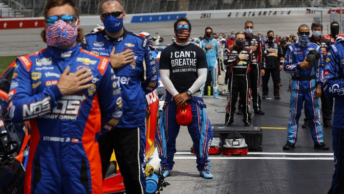 NASCAR again condemns racism after a noose is found in the garage of Bubba Wallace