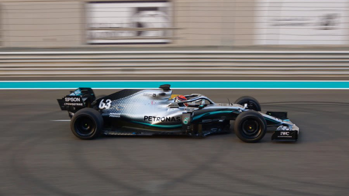 First look at Mercedes F1 car on 18-inch tyres