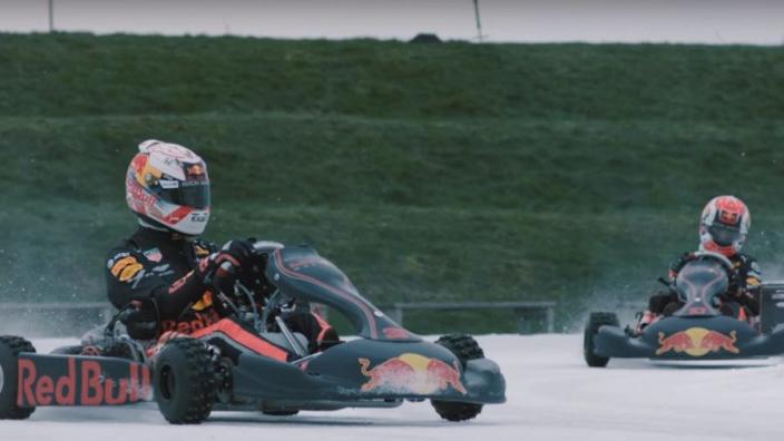 VIDEO: Max Verstappen en Pierre Gasly gaan ijskarten in Flevoland!
