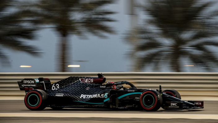 Russell draws first blood in Mercedes battle with Bottas