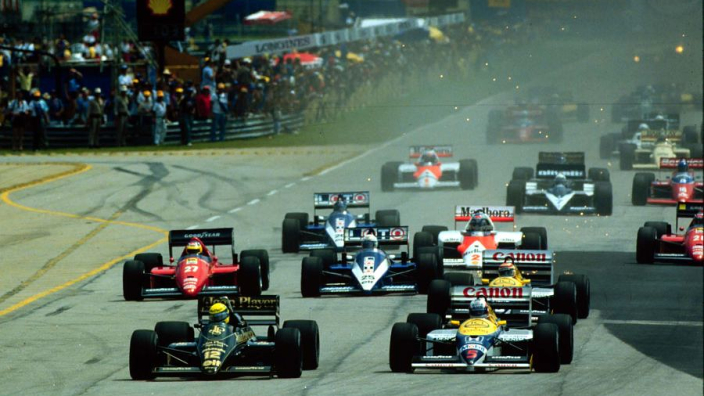 WATCH: Ayrton Senna battles with Nigel Mansell at Brazil Grand Prix