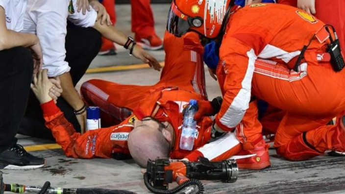 Raikkonen mechanic has successful surgery on broken leg