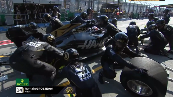 VIDEO: Haas suffer pit-stop failure in Australia again!