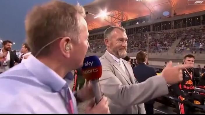 WATCH: Brundle drops Guy Ritchie gaffe on grid walk