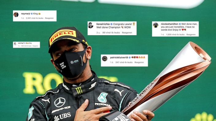 Topsporters en wereldsterren reageren op historische mijlpaal Hamilton