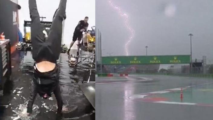 In beeld: Noodweer Rusland zet Formule 1-paddock op z'n kop
