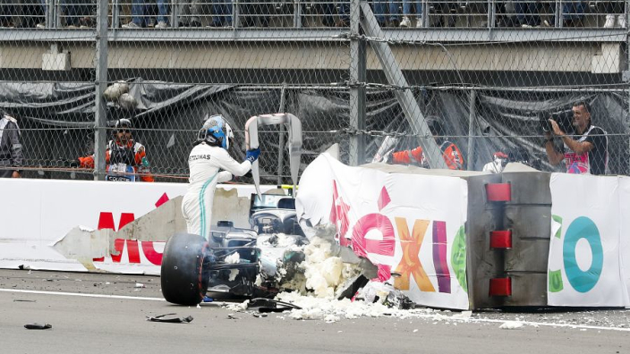 Bottas wants 'nasty' barriers changed after Mexico crash