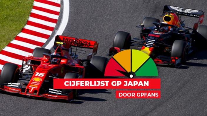 Cijferlijst Japan: Welke score krijgen Verstappen en Leclerc?