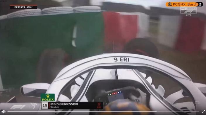 VIDEO: Ericsson crashes out of Japanese GP qualifying!