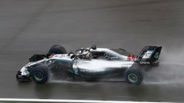 Hamilton sails to pole in sodden Budapest qualifying