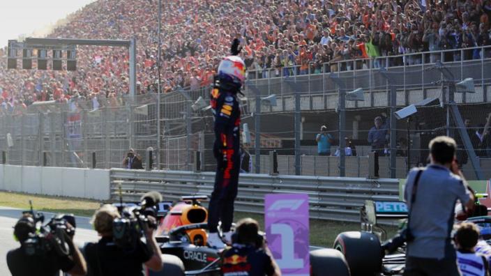 Verstappen beats Hamilton for home win and ignite Dutch delirium