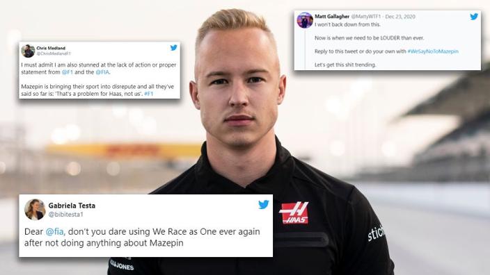 Formule 1-wereld reageert woest op aanblijven Mazepin bij Haas