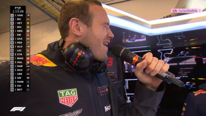VIDEO: Red Bull karaoke brightens up rain-ruined COTA session