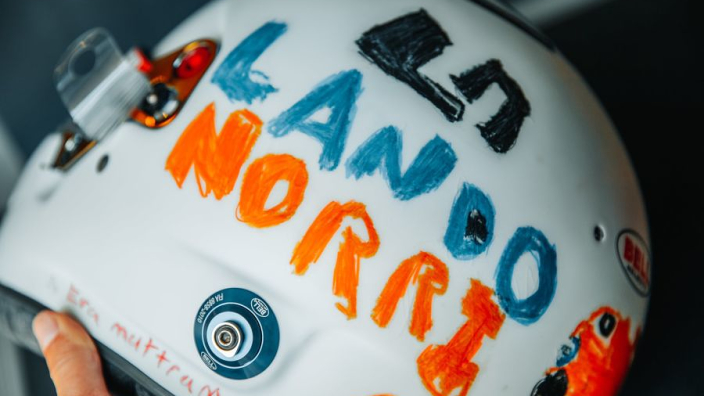 Norris to run British GP helmet designed by a six-year-old