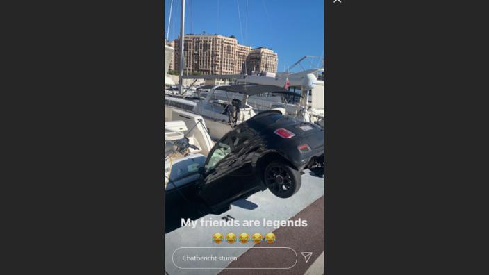 HAHA! Vrienden Charles Leclerc hebben probleempje met de auto in Monaco
