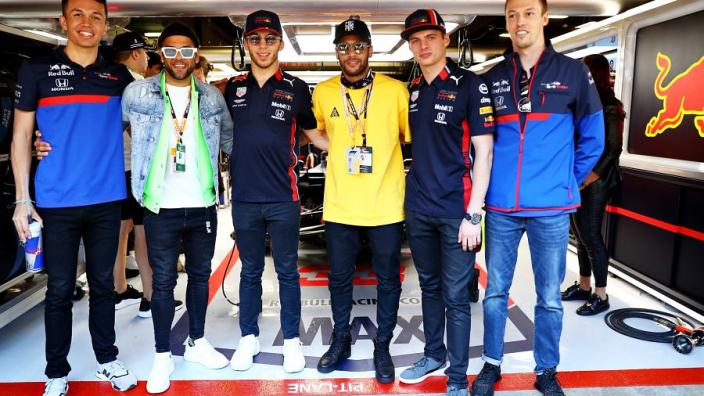 VIDEO: Neymar visits Red Bull stars Verstappen and Gasly