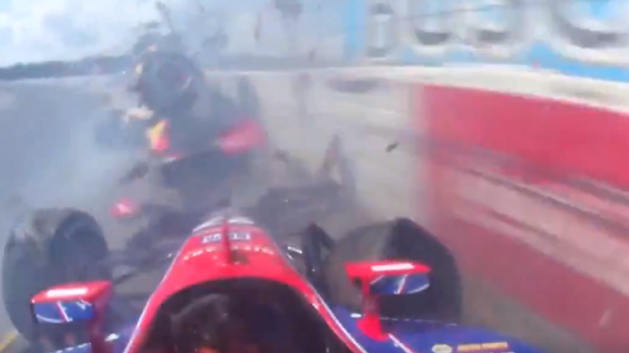 VIDEO: Lucky escape in IndyCar as Pocono bites back again