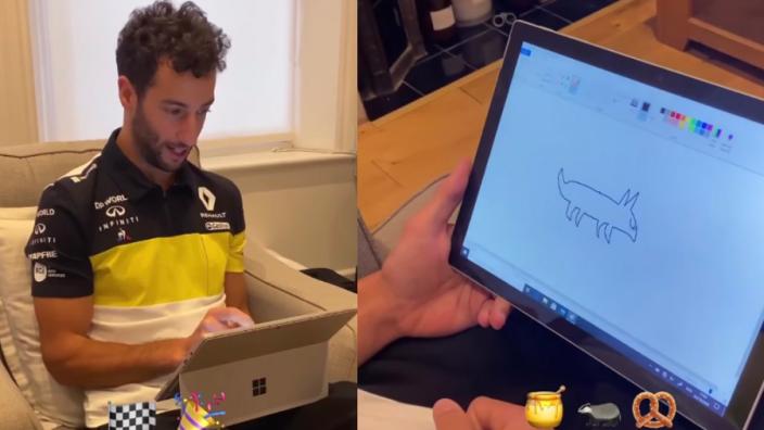Ricciardo is al druk bezig met ontwerp tatoeage Abiteboul