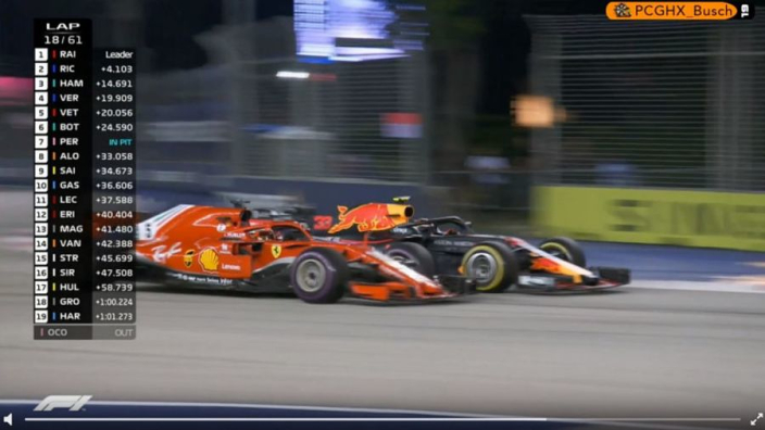 VIDEO: Vettel and Verstappen go close!