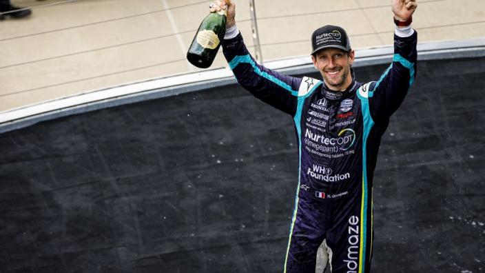 "Grosjean hailed for ""cool"" approach to IndyCar career"