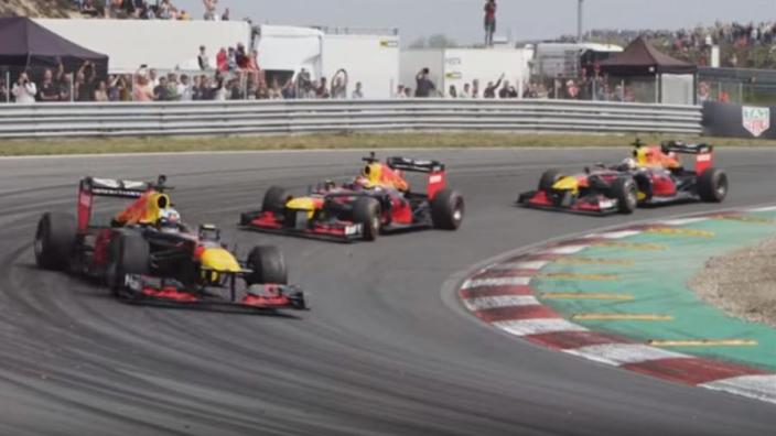VIDEO: Verstappen, Ricciardo en Coulthard in actie op Zandvoort