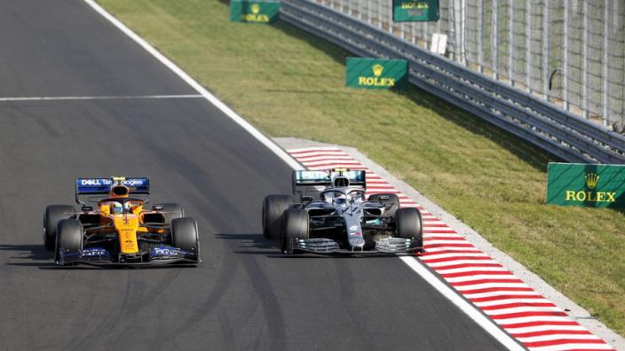 """Norris redelijk tevreden: """"De Mercedes was uiteindelijk wel wat sneller"""""""