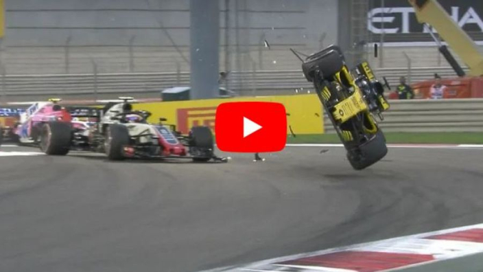 VIDEO: Hulkenberg's Abu Dhabi crash from all angles