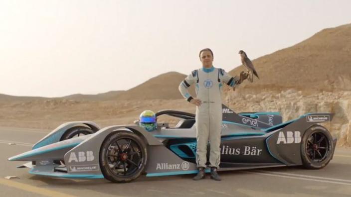 VIDEO: Massa races a falcon in Formula E car