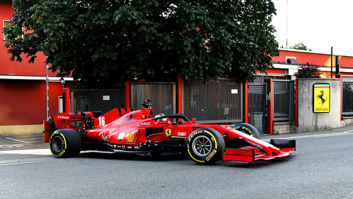 In pictures: Leclerc takes the SF1000 for a spin around Maranello