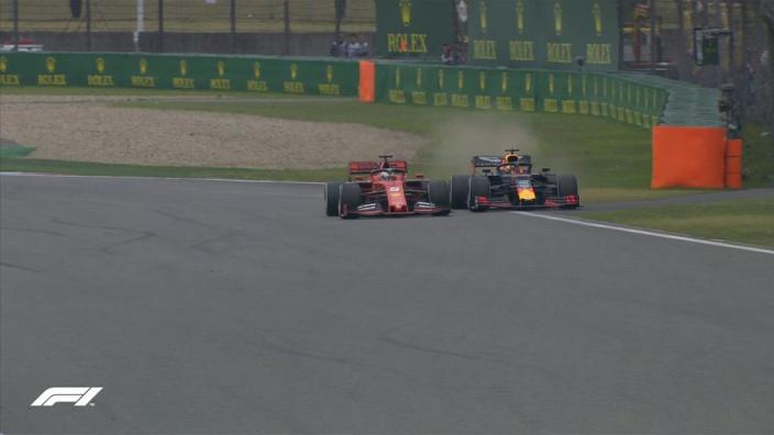 VIDEO: Verstappen dives down inside of Vettel!