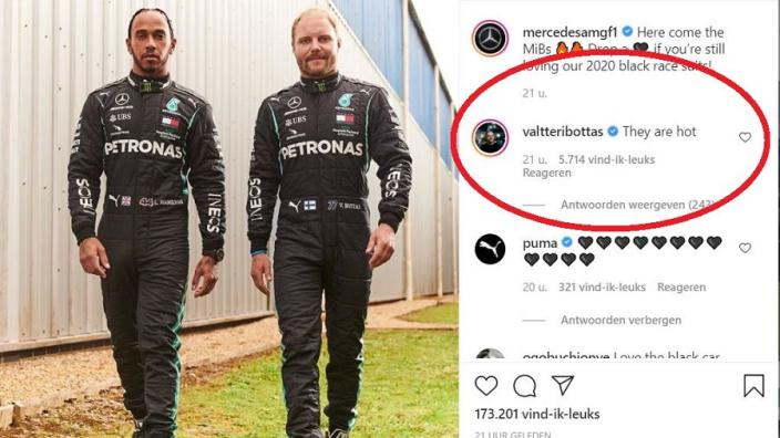 Bottas doet via Instagram nogmaals zijn beklag over warme Mercedes-overalls