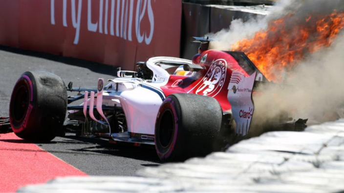 """Marcus Ericsson over crash: """"Geen verklaring voor"""""""