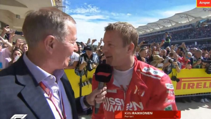 VIDEO: Raikkonen reacts to COTA win