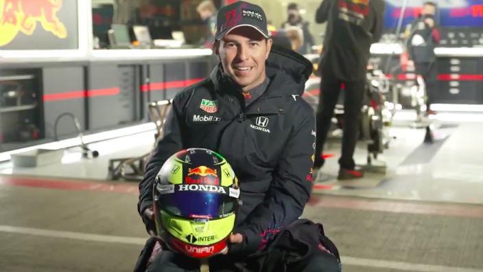 Perez explains all-new 'career favourite' Red Bull helmet design