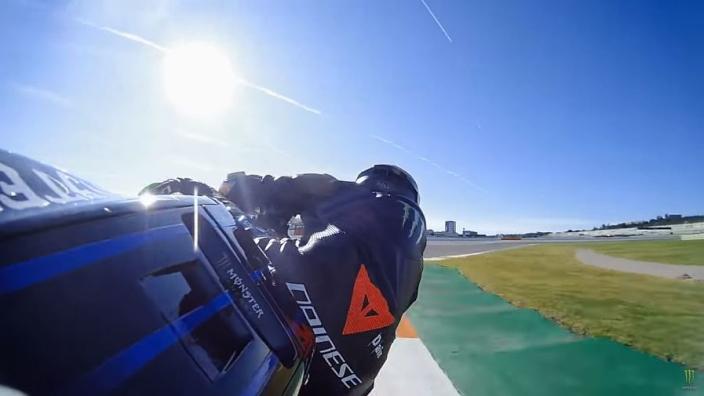 VIDEO: Ride with Lewis Hamilton on Valentino Rossi's Yamaha MotoGP bike!