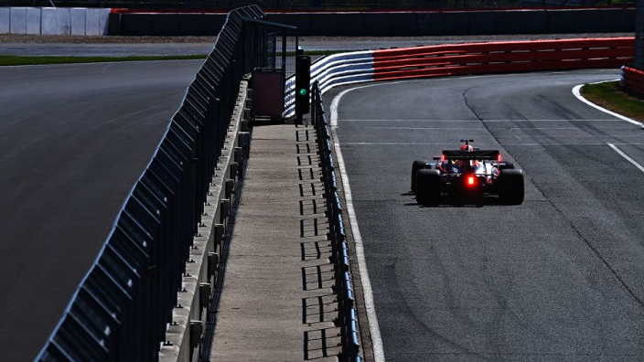 Red Bull take to the track for a Silverstone filming day