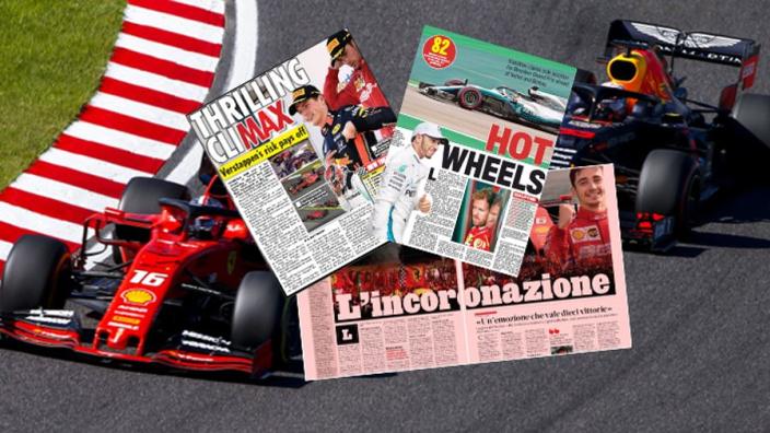 Dit schrijven de buitenlandse kranten over Verstappen en Leclerc