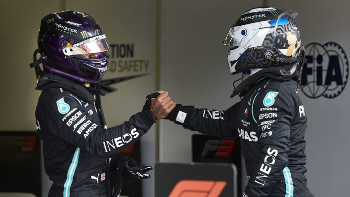 Bottas 'pissed off' with 2020 qualifying woe compared to Hamilton