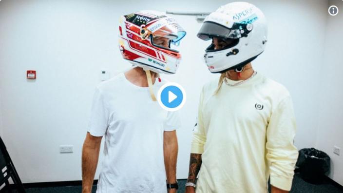 VIDEO: Hamilton, Vettel swap helmets after 2018 fight