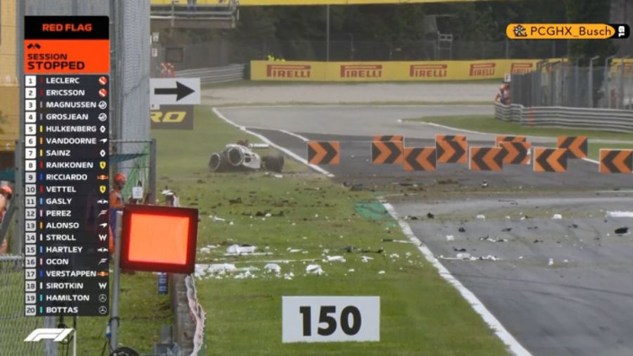 VIDEO: Ericsson in MASSIVE FP2 Monza crash