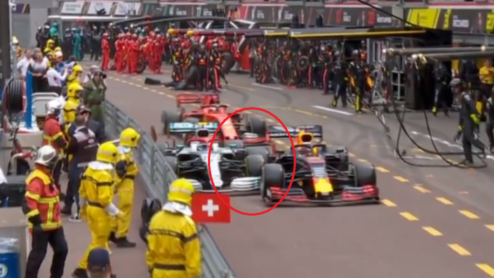 VIDEO: Verstappen overtakes Bottas in pit-lane - was it unsafe?