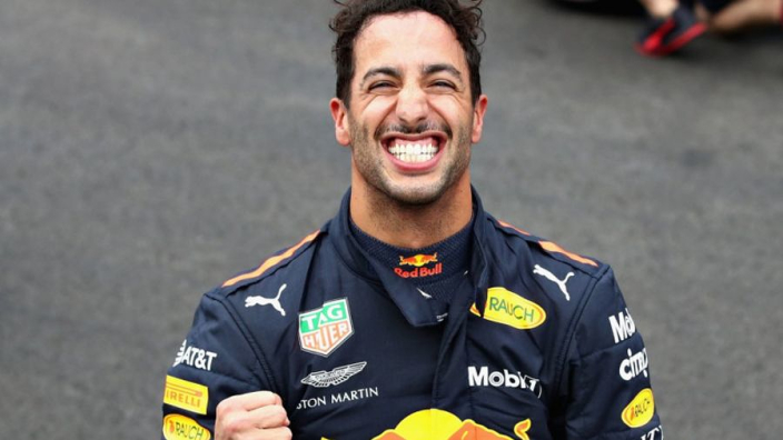 Ricciardo: Mexico pole celebrations not aimed at Max