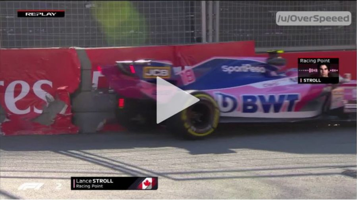 VIDEO: Stroll hits Baku barriers to red flag FP2!